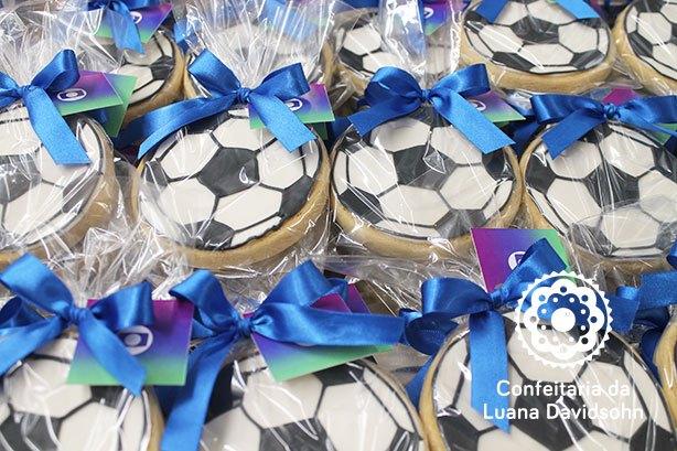 Cookie Bola de Futebol | Confeitaria da Luana