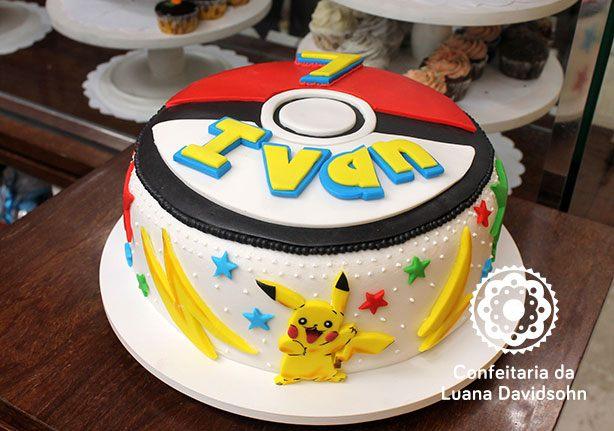 Bolo Pokemon GO | Confeitaria da Luana