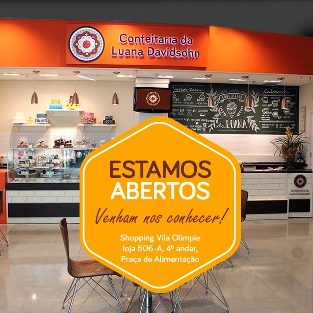 Confeitaria da Luana no Shopping Vila Olímpia | Confeitaria da Luana