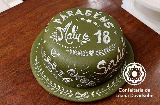 Bolo de Lousa 18 anos | Confeitaria da Luana