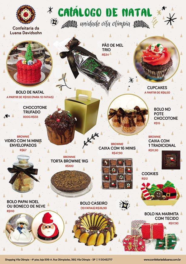 Catálogo de Natal Vila Olímpia | Confeitaria da Luana