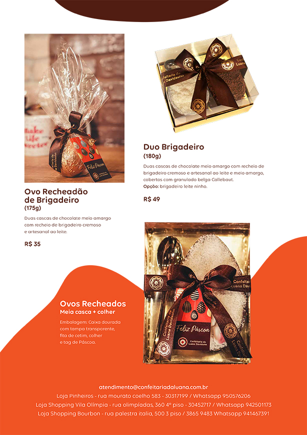 Ovos de Páscoa 2020 | Confeitaria da Luana