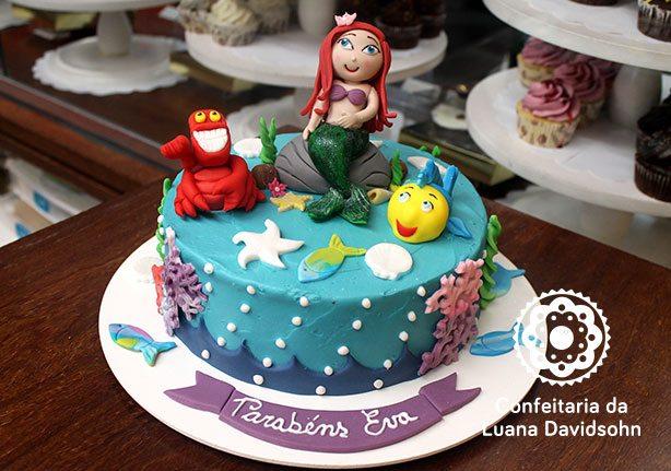 bolo pequena sereia