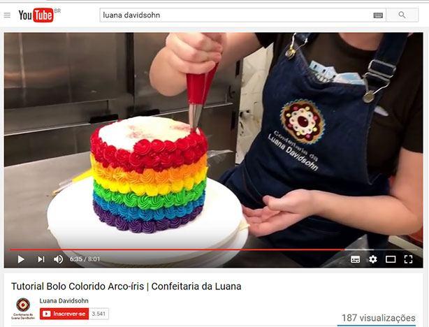 Tutorial Bolo Colorido Arco-íris | Confeitaria da Luana