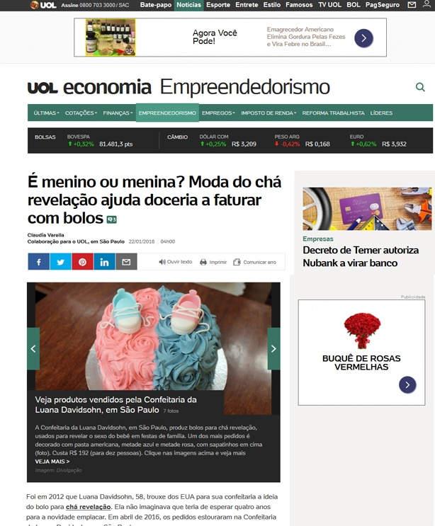 Confeitaria da Luana UOL Economia | Confeitaria da Luana
