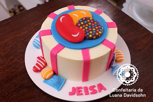 Bolo Candy Crush | Confeitaria da Luana