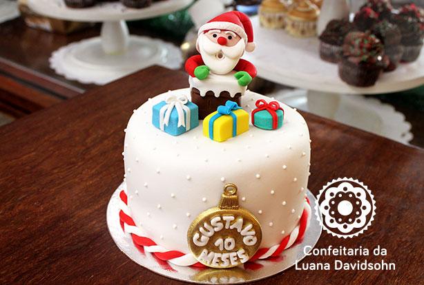 Bolo Mesversario Natal | Confeitaria da Luana