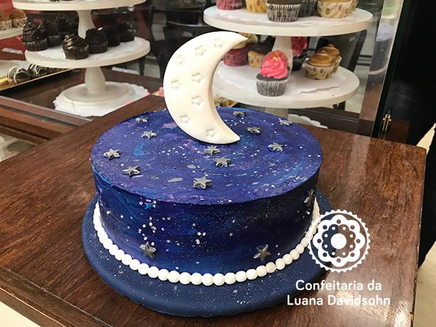 Bolo Noite Lua | Confeitaria da Luana