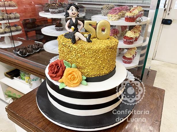 Bolo Festa 50 anos | Confeitaria da Luana