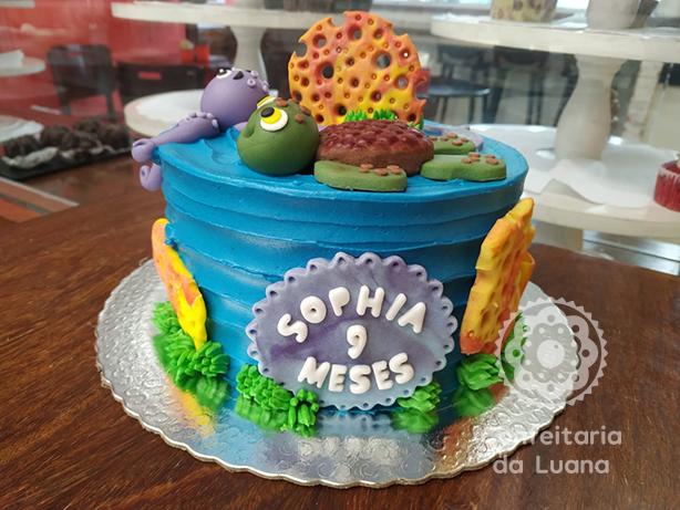 Bolo Fundo do Mar Mesversário | Confeitaria da Luana