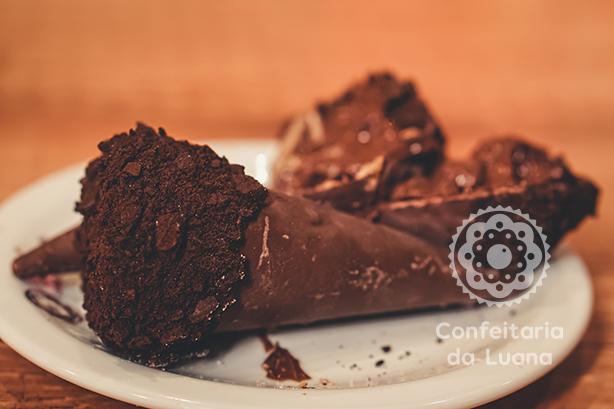 Cone Recheado de Nutella | Confeitaria da Luana
