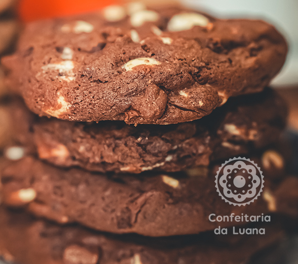 Cookie Triplo Chocolate | Confeitaria da Luana